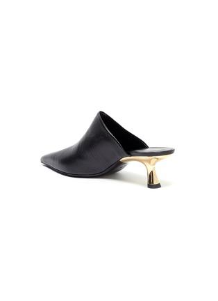 - SIMON MILLER - 'Kicker Tee' metal heel leather mules