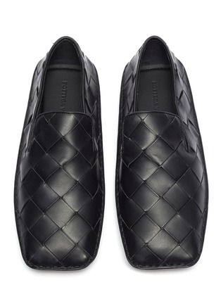 Detail View - Click To Enlarge - BOTTEGA VENETA - Intrecciato woven leather loafers
