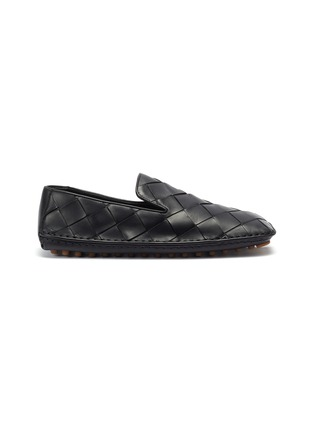 Main View - Click To Enlarge - BOTTEGA VENETA - Intrecciato woven leather loafers