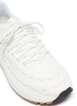 Detail View - Click To Enlarge - BOTTEGA VENETA - 'Lace Speedster' chunky outsole leather sneakers