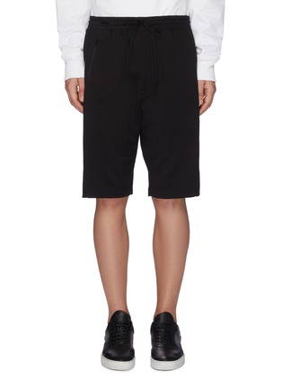 Main View - Click To Enlarge - Y-3 - Logo print panelled sweat shorts