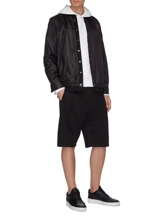 Figure View - Click To Enlarge - Y-3 - Logo print panelled sweat shorts