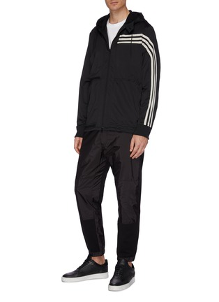 Figure View - Click To Enlarge - Y-3 - 3-Stripes hooded track jacket