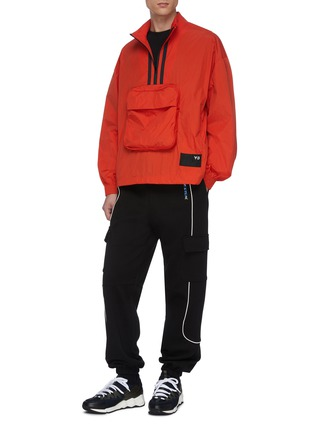 Figure View - Click To Enlarge - Y-3 - Half zip stripe front pocket shell track jacket