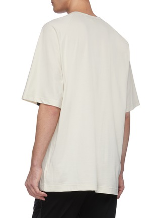 Back View - Click To Enlarge - Y-3 - Crossbody stripe T-shirt