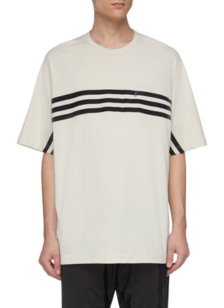 Main View - Click To Enlarge - Y-3 - Crossbody stripe T-shirt
