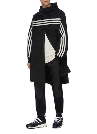 Figure View - Click To Enlarge - Y-3 - Crossbody stripe T-shirt