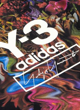- Y-3 - 'Toketa' floral logo print T-shirt