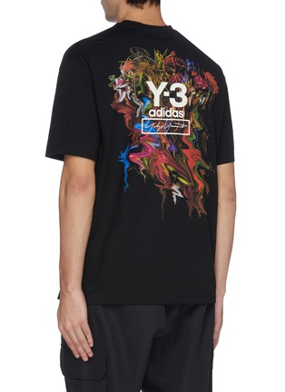 Back View - Click To Enlarge - Y-3 - 'Toketa' floral logo print T-shirt