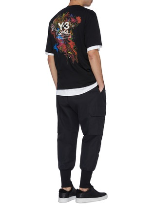 Figure View - Click To Enlarge - Y-3 - 'Toketa' floral logo print T-shirt