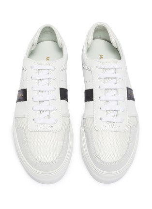 Detail View - Click To Enlarge - AXEL ARIGATO - 'Platform' contrast stripe patchwork sneakers