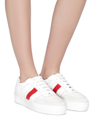 Figure View - Click To Enlarge - AXEL ARIGATO - 'Platform' contrast stripe patchwork sneakers
