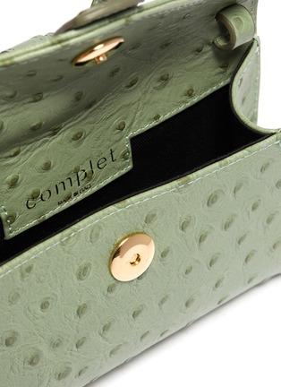 - COMPLÉT - 'Valery' micro ostrich embossed leather envelope belt bag