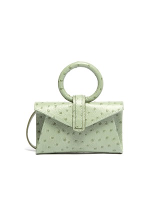 Main View - Click To Enlarge - COMPLÉT - 'Valery' micro ostrich embossed leather envelope belt bag