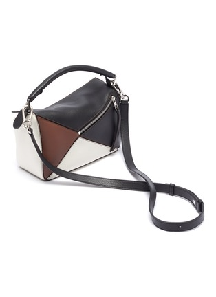 Detail View - Click To Enlarge - LOEWE - 'Puzzle' colourblock small leather bag