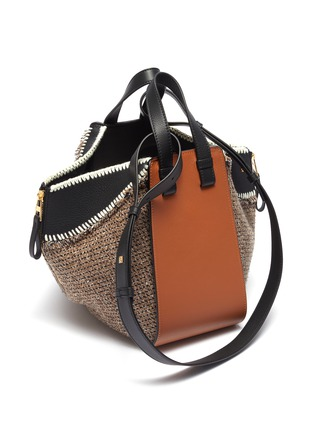 Detail View - Click To Enlarge - LOEWE - 'Hammock' small leather and tweed bag