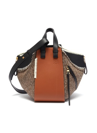 Main View - Click To Enlarge - LOEWE - 'Hammock' small leather and tweed bag