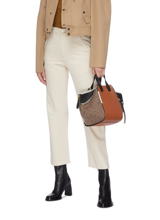 Figure View - Click To Enlarge - LOEWE - 'Hammock' small leather and tweed bag
