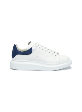 Main View - Click To Enlarge - ALEXANDER MCQUEEN - 'Oversized Sneakers' in leather with suede collar