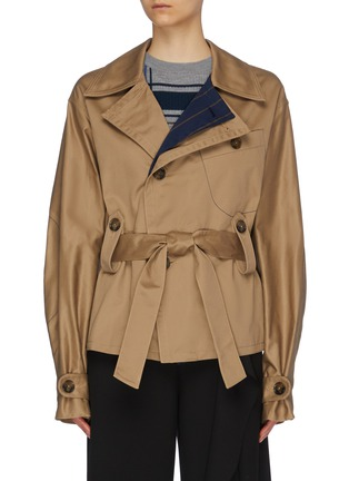 Main View - Click To Enlarge - PORTSPURE - Belted trench jacket