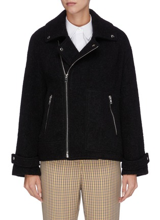 Main View - Click To Enlarge - PORTSPURE - Textured biker jacket