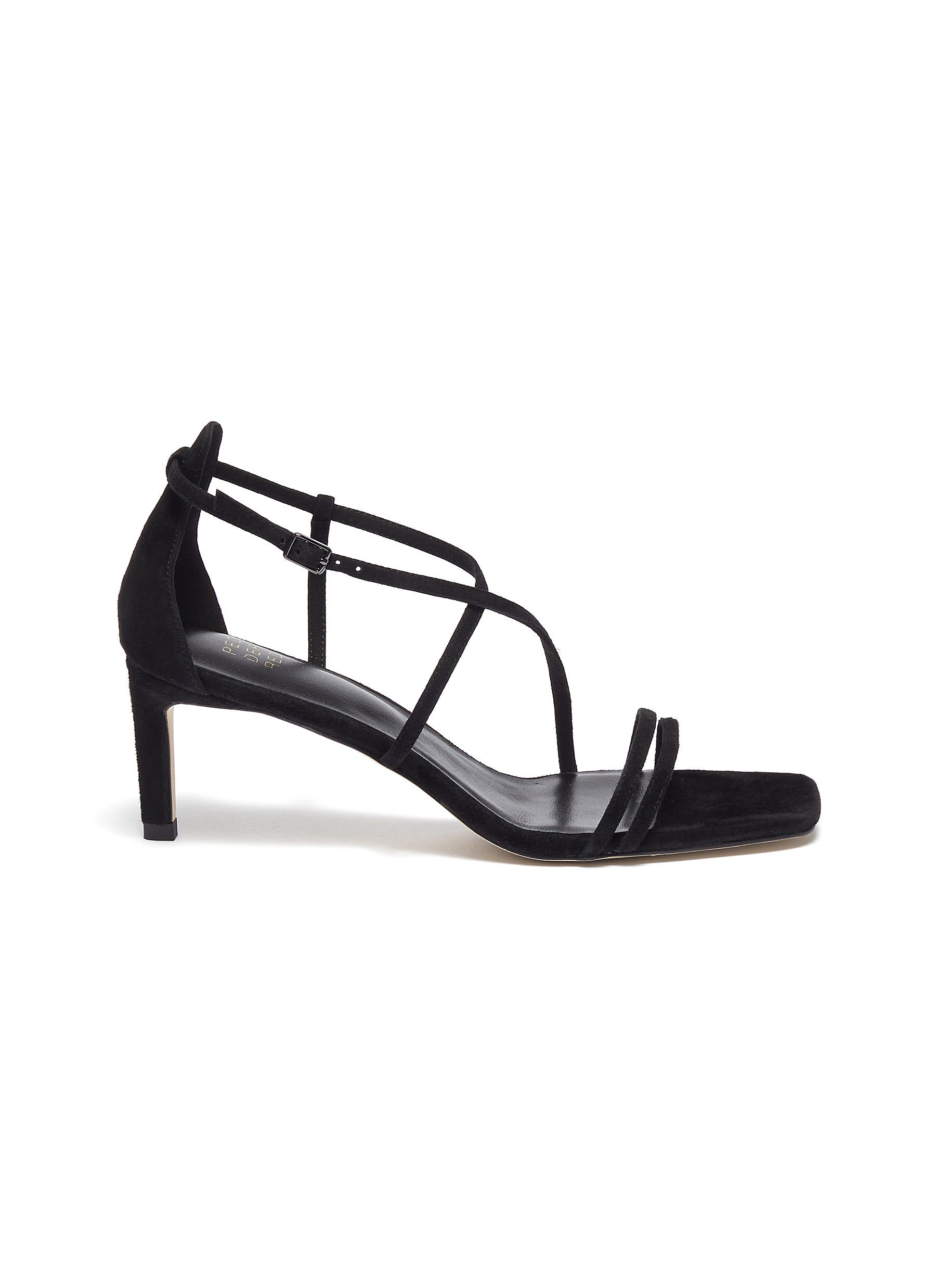 Strappy suede sandals by Pedder Red