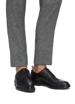 99e9e23f4b7f6d Figure View - Click To Enlarge - THOM BROWNE - Pebble grain leather brogue  Derbies
