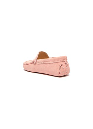 Detail View - Click To Enlarge - TOD'S - 'Gommini' suede infant loafers