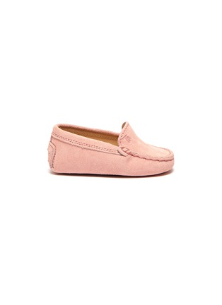 Main View - Click To Enlarge - TOD'S - 'Gommini' suede infant loafers