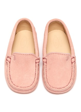 Figure View - Click To Enlarge - TOD'S - 'Gommini' suede infant loafers