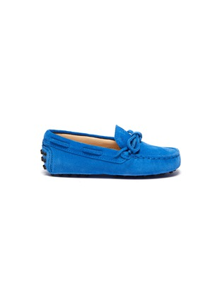 Main View - Click To Enlarge - TOD'S - 'Gommini' tie suede toddler driving shoes