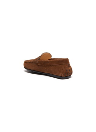 Detail View - Click To Enlarge - TOD'S - 'Benson City Gommino' suede kids loafers
