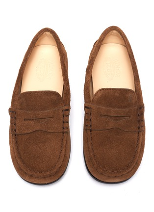 Figure View - Click To Enlarge - TOD'S - 'Benson City Gommino' suede kids loafers