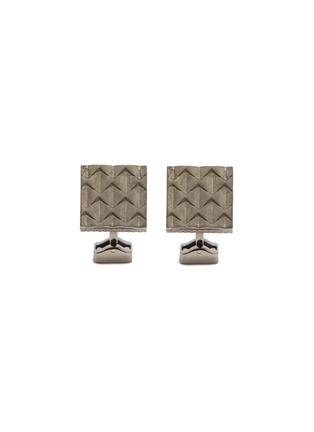Main View - Click To Enlarge - TATEOSSIAN - Arrow engraved titanium cufflinks