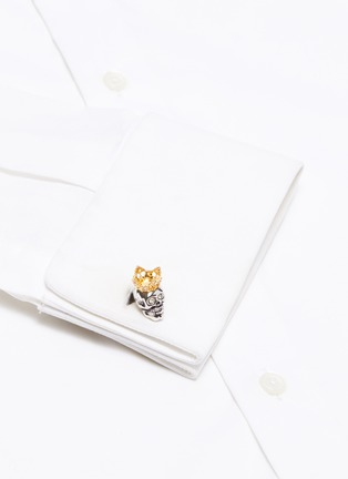 Figure View - Click To Enlarge - TATEOSSIAN - King Skull cufflinks