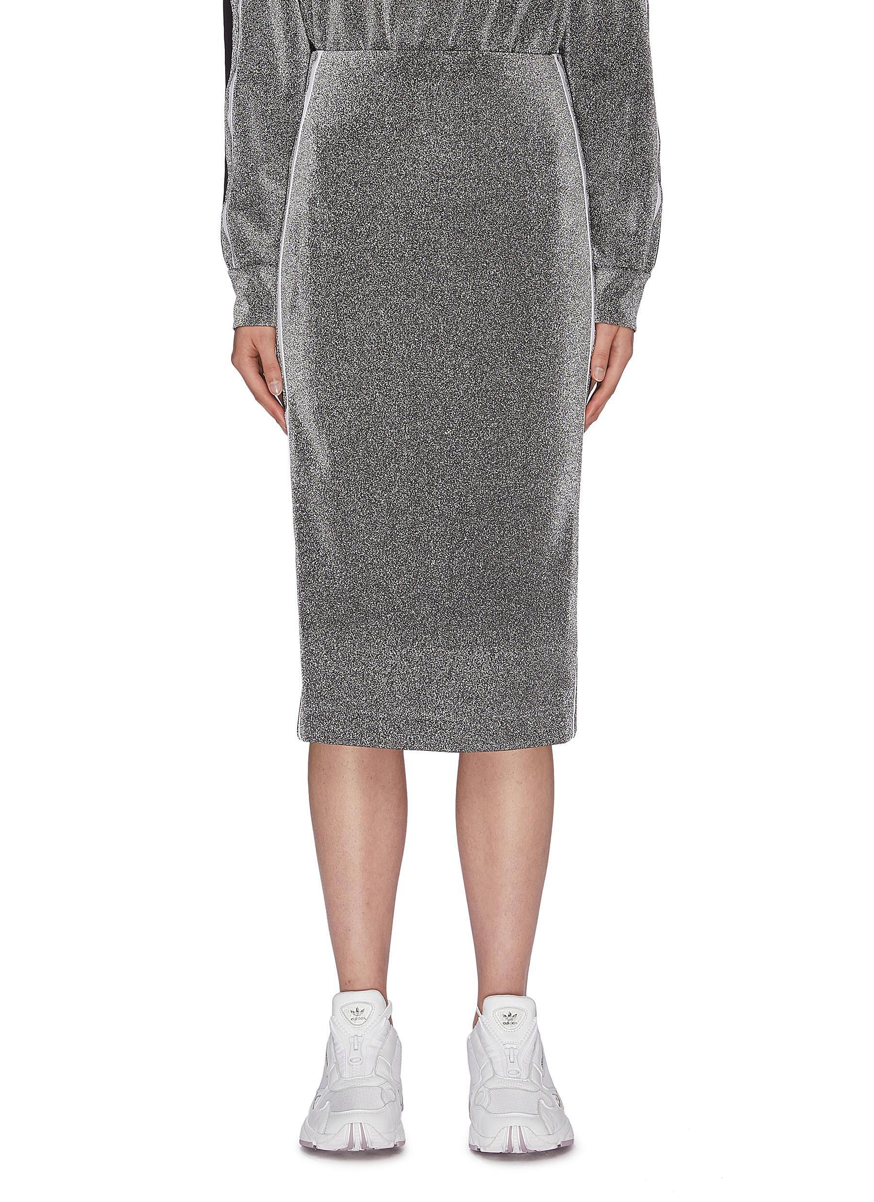 Brazen stripe outseam metallic pencil skirt by No Ka'Oi