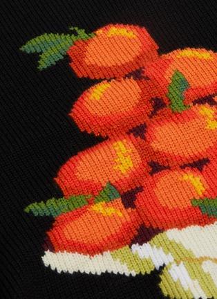 - CASABLANCA - 'Pyramid Orange' jacquard sweater