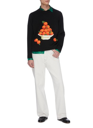 Figure View - Click To Enlarge - CASABLANCA - 'Pyramid Orange' jacquard sweater