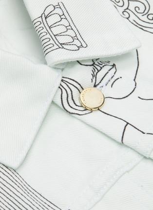 - CASABLANCA - 'Sid Pillar' graphic print denim jacket