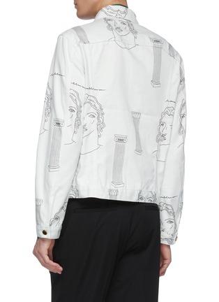 Back View - Click To Enlarge - CASABLANCA - 'Sid Pillar' graphic print denim jacket