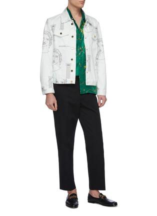 Figure View - Click To Enlarge - CASABLANCA - 'Sid Pillar' graphic print denim jacket