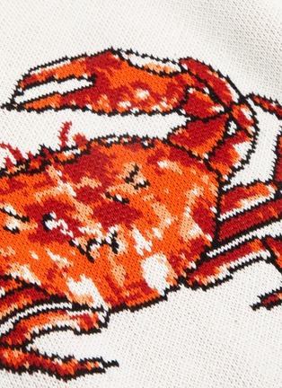- CASABLANCA - 'Crab' jacquard sweater