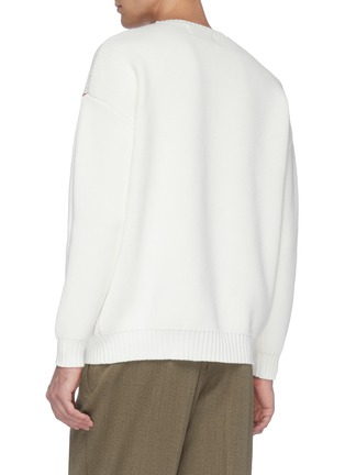 Back View - Click To Enlarge - CASABLANCA - 'Crab' jacquard sweater