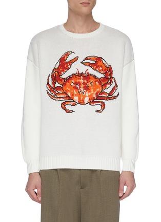 Main View - Click To Enlarge - CASABLANCA - 'Crab' jacquard sweater