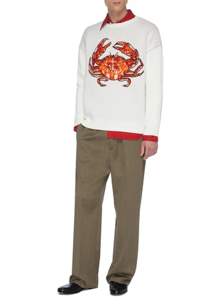 Figure View - Click To Enlarge - CASABLANCA - 'Crab' jacquard sweater