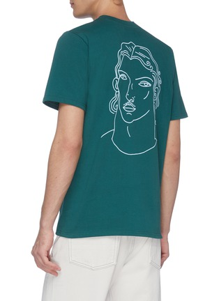 Back View - Click To Enlarge - CASABLANCA - 'Sid' portrait print T-shirt