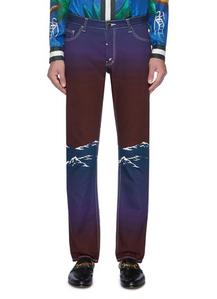 Main View - Click To Enlarge - CASABLANCA - Mountain print jeans