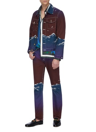 Figure View - Click To Enlarge - CASABLANCA - Mountain print jeans