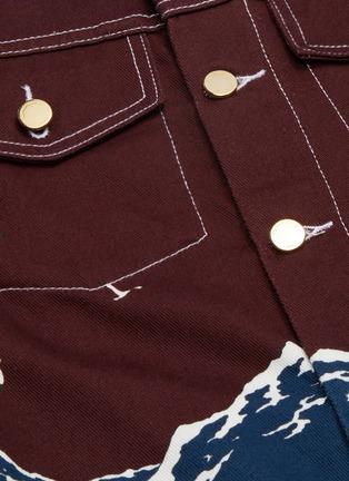 - CASABLANCA - Mountain print denim jacket