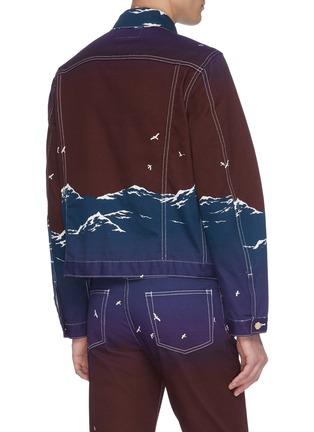 Back View - Click To Enlarge - CASABLANCA - Mountain print denim jacket